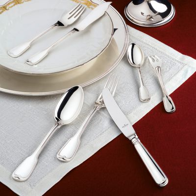 Serving Set - 10 Pieces - Augsburger Faden in 925 Sterling Silver