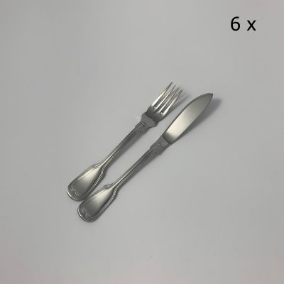 12pcs. fish set Augsburger Faden in 18/10 stainless steel