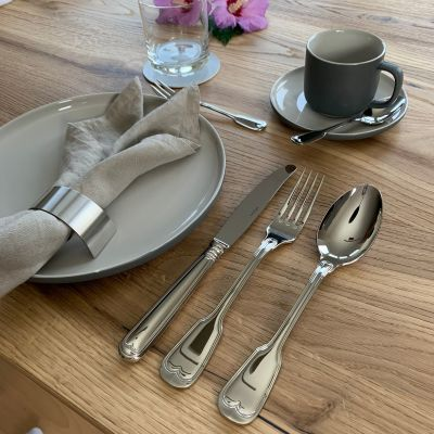 Cutlery Set - 71 Pieces - Augsburger Faden in 18/10 Stainless Steel