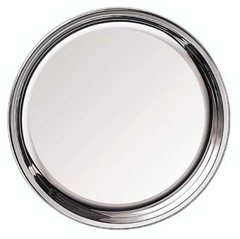 Tray With Plain Rim Silhouette in 925 Sterling Silver
