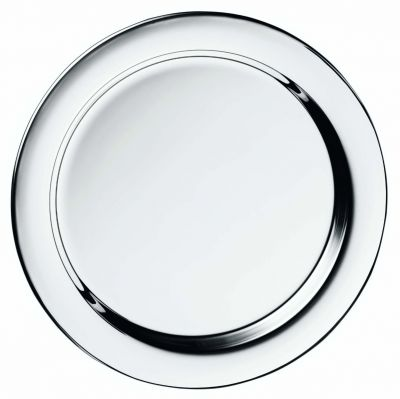 Glass Coaster Silhouette in Silver Plated with flanged rim 11 cm