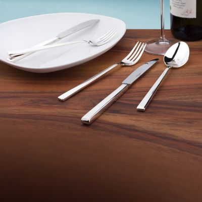 Cutlery Set - 24 Pieces - Cantone in 18/10 Stainless Steel Polished Surface