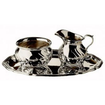 Sugar And Creamer Serving Set - 3 Pieces - Dresdner Hofmuster in 925 Sterling Silver