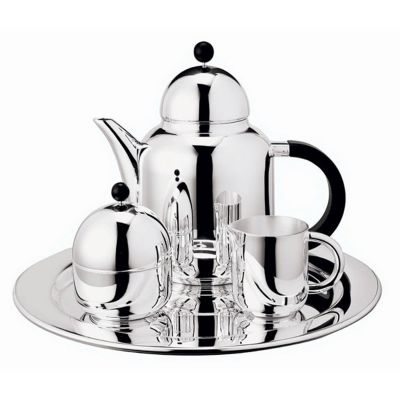Coffee Serving Set - 4 Pieces - Silhouette in Silver Plated