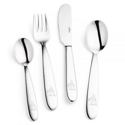 Childrens Cutlery - 4 Pieces - in 18/10 Stainless Steel