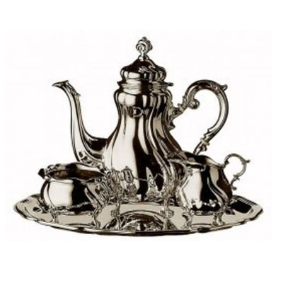 Mocca Serving Set - 4 Pieces - Barock in 925 Sterling Silver