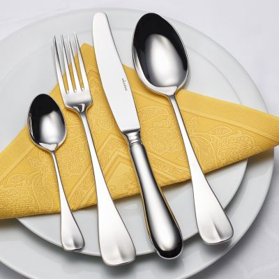 Cutlery Set - 30 pieces + 12 pieces fish cutlery + 6 steak knives Alt Englisch in 18/10 stainless steel with gift box