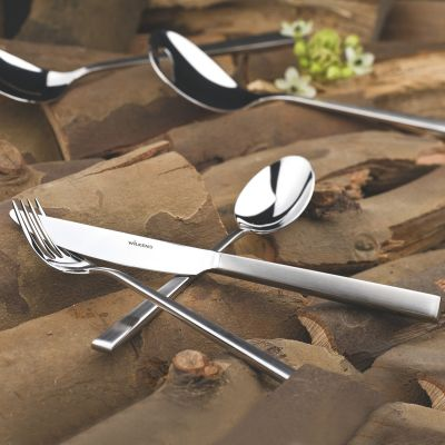 Cutlery Set - 30 Pieces + 18 Pieces Dessert cutlery - Cantone in 18/10 Stainless Steel Satinated Surface with gift box