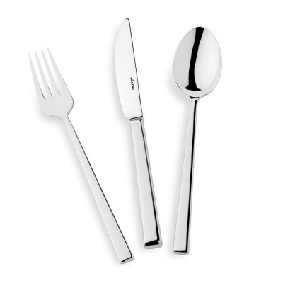 Fish Fork Cantone in 180g Silver Plated Polished Surface