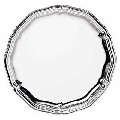 Bottle Coaster Chippendale in Silver Plated
