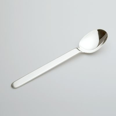 Coffee Spoon Epoca in 925 Sterling Silver Frosted Surface