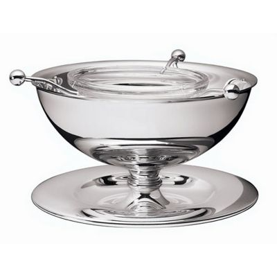 Caviar Serving Bowl Silhouette in Silver Plated