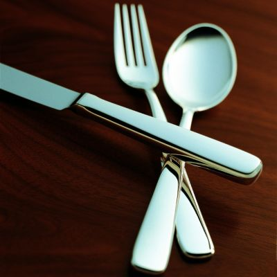 Pastry Fork Opera in 925 Sterling Silver Polished Surface