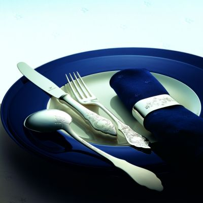 Pastry Fork Ostfriesen in 180g Silver Platet Polished Surface