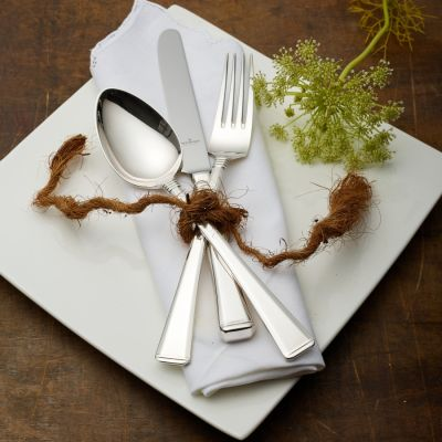 Pastry Fork Prado in 925 Sterling Silver Polished Surface