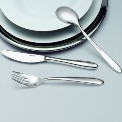 Pastry Fork Rotondo in 90g Silver Plated Polished Surface