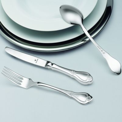 Pastry Fork Schloss Mirabell in 90g Silver Plated Polished Surface