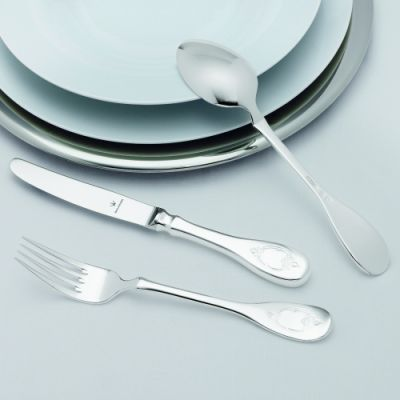 Pastry Fork Schloss Rosenborg in 90g Silver Plated Polished Surface
