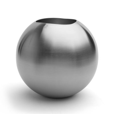 Spherical Vase Elan in 18/10 Stainless Steel
