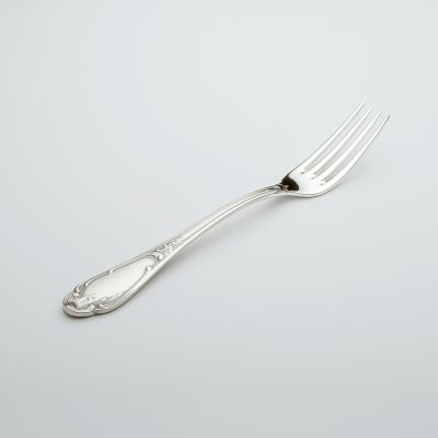 Dinner Fork Rokoko in 800 Silver Oxidized/polished Surface