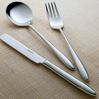 Salad Serving Set - 2 Pieces - Aura in 18/10 Stainless Steel