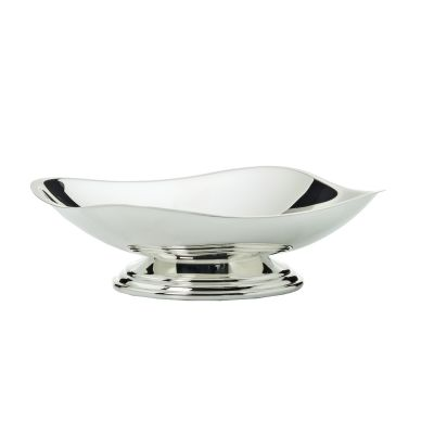 Bowl With Smooth Rim Facette in Silver Plated
