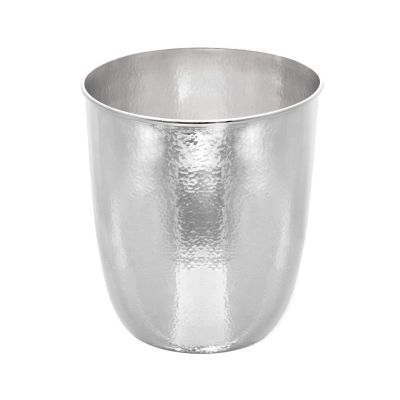 Champagne cooler Shining, hammered, silverplated, handmade in germany