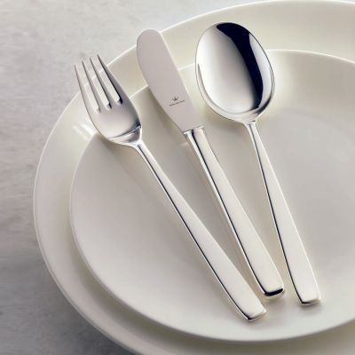 Sterling Silver Cutlery Set - 4 Pieces - Classic in 925 Sterling Silver