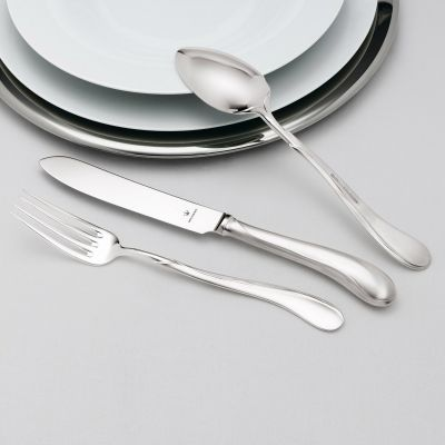 Sterling Silver Cutlery Set - 4 Pieces - Tulipan in 925 Sterling Silver