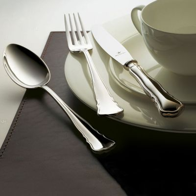 Silver Plated Cutlery Set - 4 Pieces - Chippendale in 180g Silver Plated