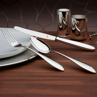 Silver Plated Cutlery Set - 62 Pieces - Silhouette in 180g Silver Plated