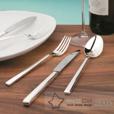 Silver Plated Cutlery Set - 30 Pieces - Cantone in 180g Silver Plated Polished Surface