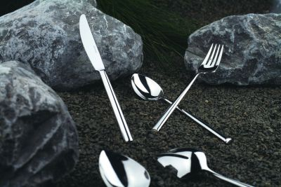 Cutlery Set - 24 Pieces - Palladio in 18/10 Stainless Steel Polished Surface