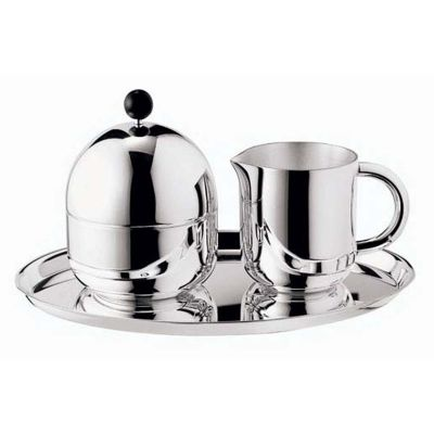 Sugar Bowl Including Lid Silhouette in Silver Plated